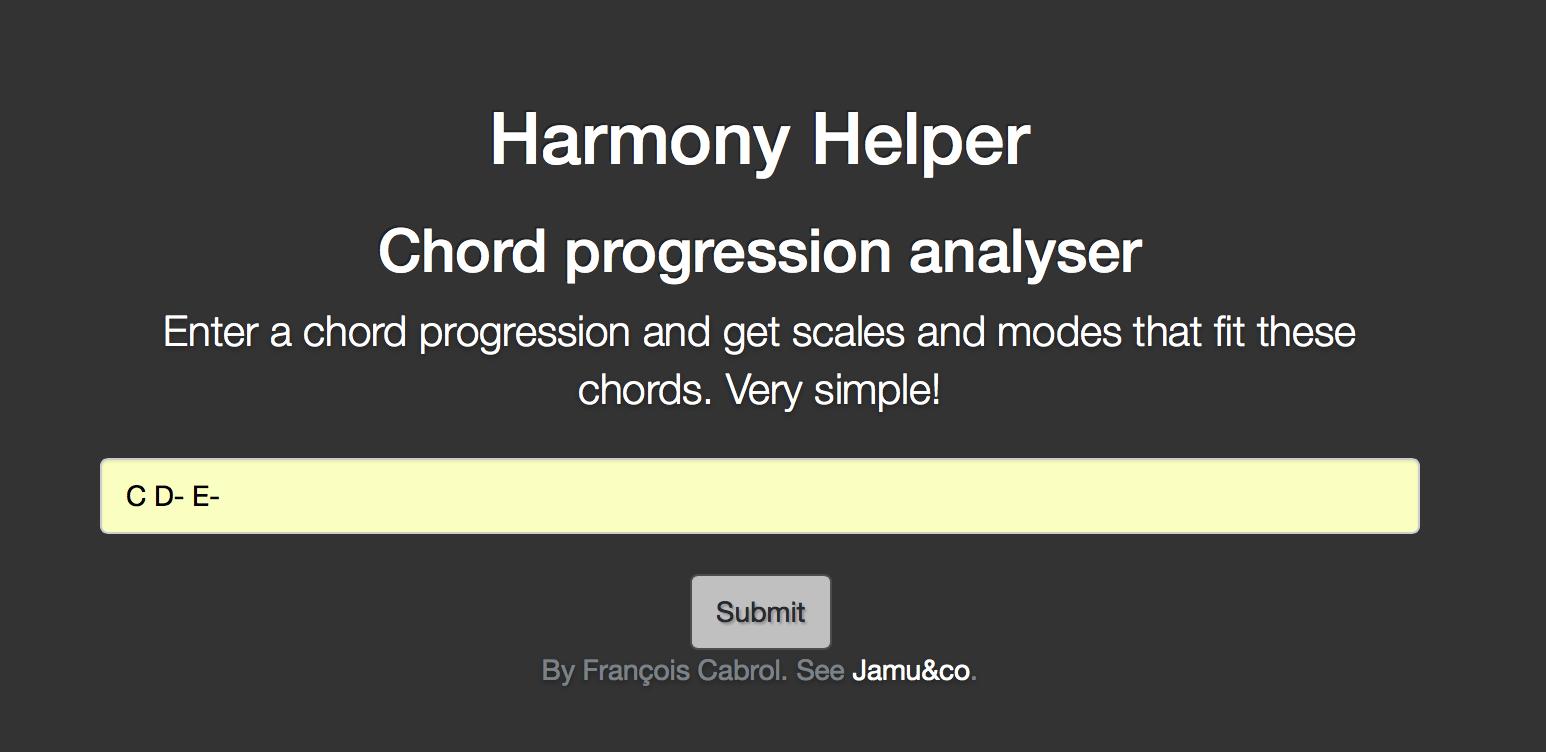 Harmony helper